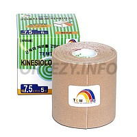 TEMTEX kinesio tape Classic, béžová tejpovací páska 7,5cm x 5m