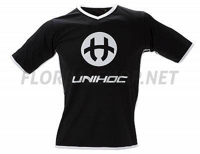 Unihoc dres Dominate black/white JR