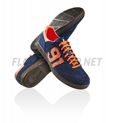 Salming NinetyOne Navy/Orange sálová obuv