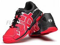 Unihoc U3 Speed Lady neon red/black florbalová obuv