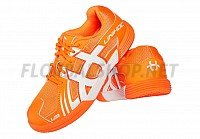 Unihoc U3 Junior orange/white florbalová obuv