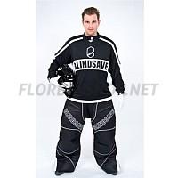 BlindSave brankářské kalhoty Black/White