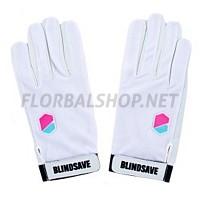 BlindSave brankářské rukavice White