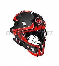Unihoc brankářská maska OPTIMA 66 black/neon red