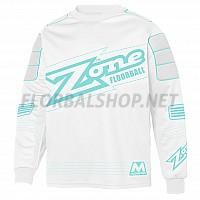 ZONE brankářský dres Monster SR white/turquoise 18/19