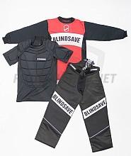BlindSave Red-Black dětský brankářský komplet