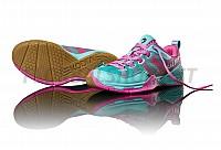 Salming Kobra Women Turquoise/Pink sálová obuv