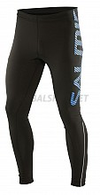 Salming Run Logo Tights Men Black/Cyan