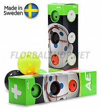 Salming míčky Aero Plus Ball Colour 4-pack