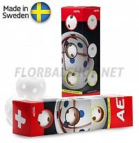 Salming míčky Aero Plus Ball White 4-pack