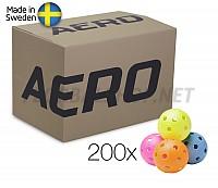 Salming míčky Aero Ball Colour 200 Box
