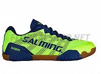 SALMING Hawk Men Shoe FluoGreen/LimogesBlue sálová obuv