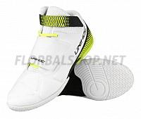 Unihoc U4 Goalie white/neon yellow brankářská obuv