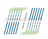 Florbalový set MPS Jungle Green (12 hokejek)