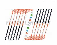 Florbalový set MPS Flash Orange (12 hokejek)