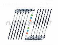 Florbalový set MPS Boomerang Black (12 hokejek)