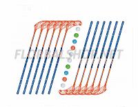 Florbalový set MPS Boomerang Blue (12 hokejek)