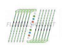 Florbalový set MPS WILDSTICK Green (12 hokejek)
