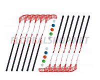Florbalový set MPS WILDSTICK Red (12 hokejek)