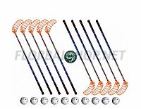 Florbalový set MPS X-FORCE orange (10 hokejek)