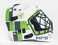 MPS White/Green helmet 18/19