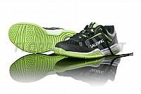 Salming Adder Kid Black/Green sálová obuv