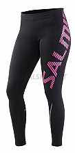 Salming Run Logo Tights Women Black/Azalea Pink