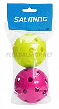 SALMING míček Floorball 2-pack magenta/green 18/19