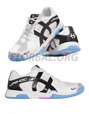 Unihoc florbalová obuv U3 Power Lady white/blue