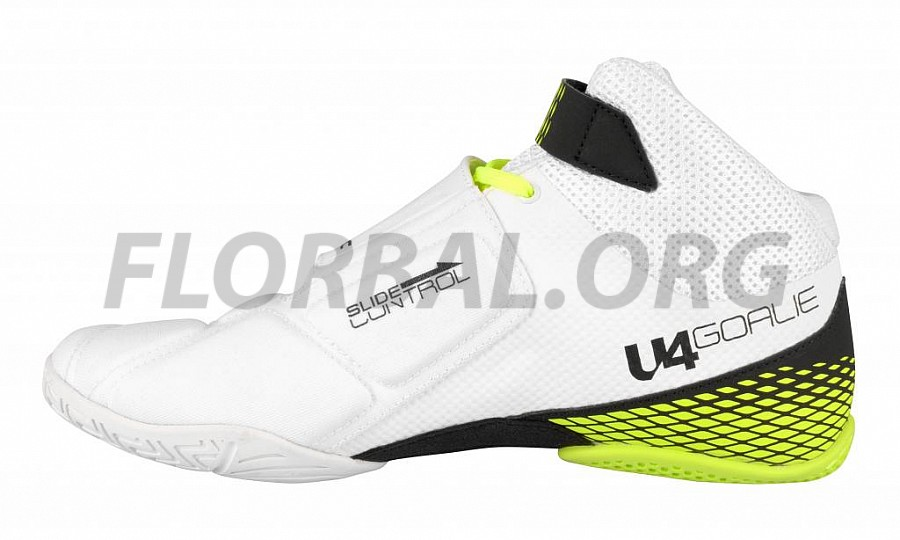 04b25ba48ba Unihoc U4 Goalie white neon yellow brankářská obuv. Unihoc U4 Goalie white neon  yellow brankářská obuv