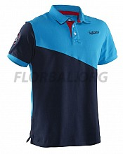 Salming tričko Oak Polo Men Cyan/Navy