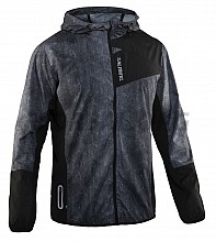 Salming bunda Run Shield Jacket Men Black/AOP