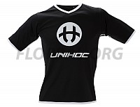 Unihoc dres Dominate black/white JR