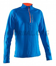 Salming Run Halfzip LS Tee Men Electric Blue/Shocking Orange