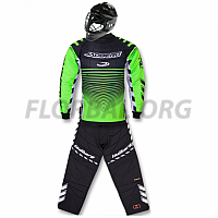 JADBERG brankársky SET Defender JR fluo green + maska MPS Penquin Black 18/19